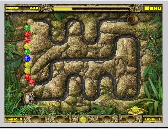 Игра IncaBall онлайн