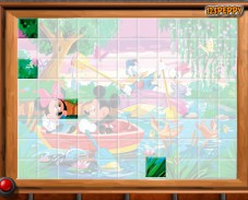Игра Mickey and Donald Puzzle онлайн