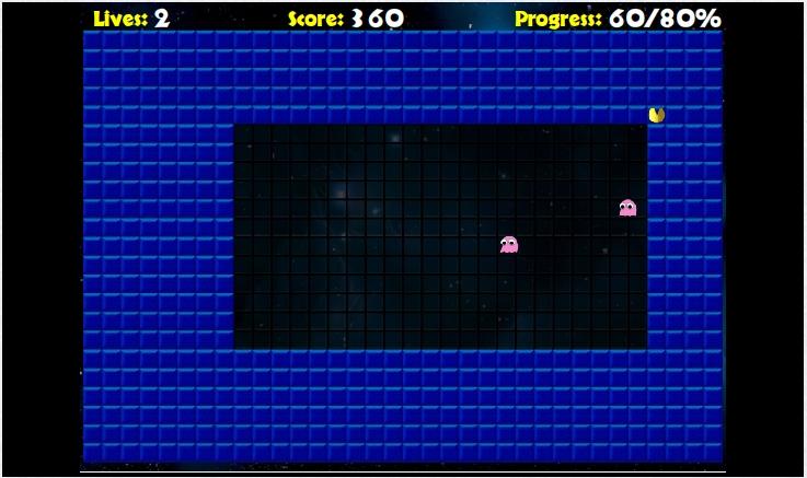 Игра Pac-Xon онлайн