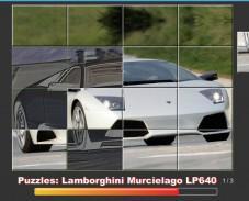 Игра Puzzles Lamborghini Murcielago онлайн