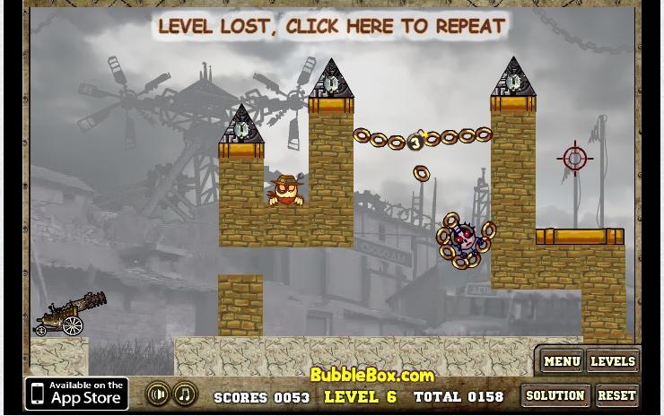 Игра Roly-Poly Cannon 3 онлайн