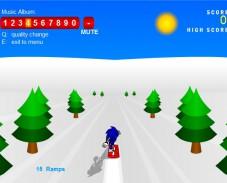 Игра Sonic 3D Snowboarding онлайн