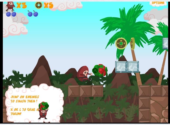 Игра Swordless ninja онлайн