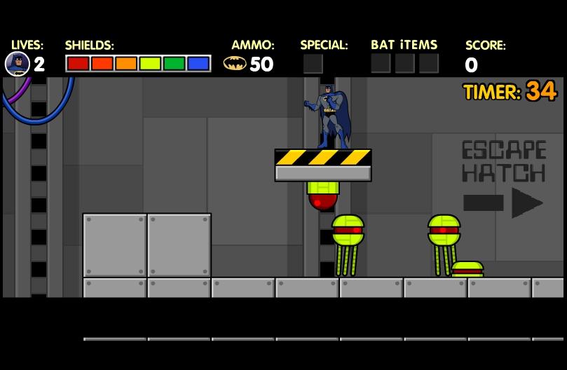 Игра Бэтмен на заводе онлайн