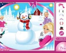 Игра Гламурный снеговик онлайн