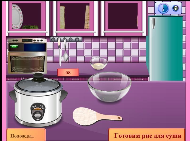 Игра Готовим суши онлайн