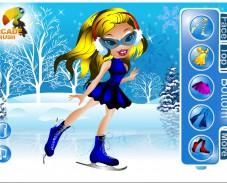 Игра Зимняя одевалка Братц онлайн