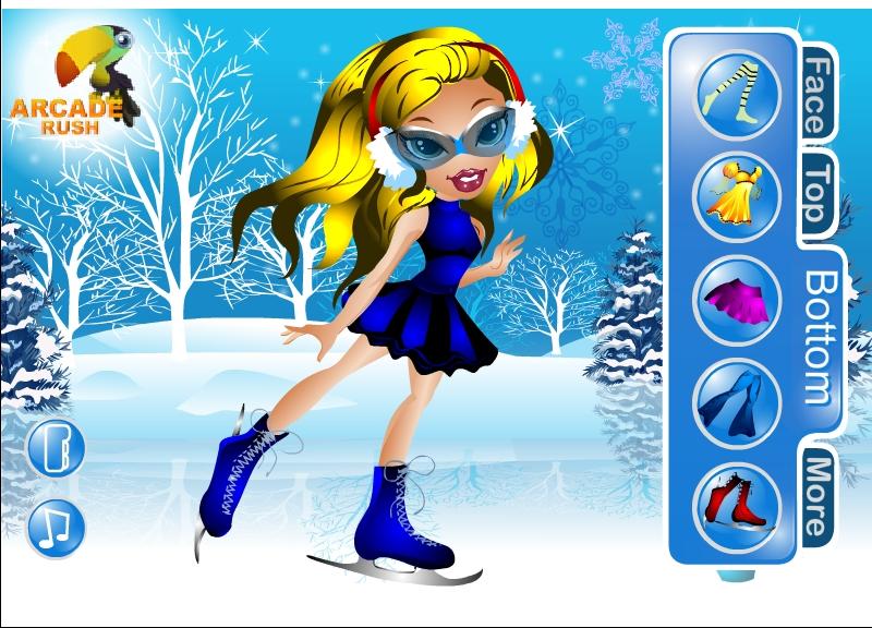 Играть бесплатно в флеш игру Зимняя одевалка Братц - играй ...