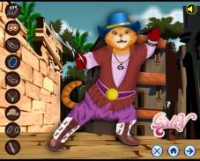 Игра Кот в сапогах — одевалка онлайн