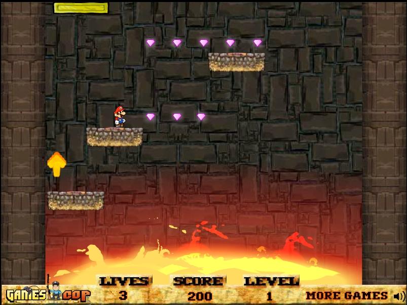 Игра Марио в вулкане онлайн