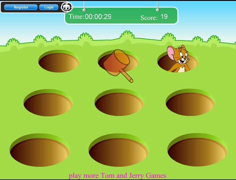 Игра Молотком по Джерри онлайн