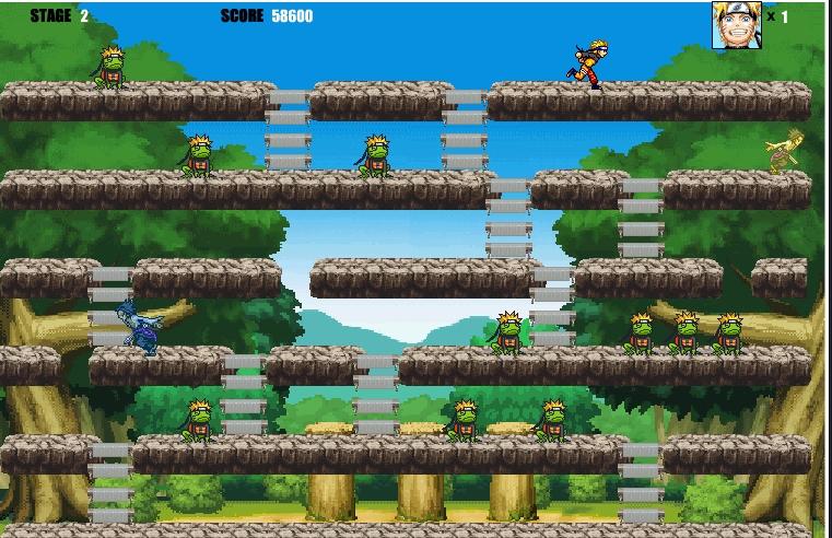 Игра Наруто и лягушки онлайн