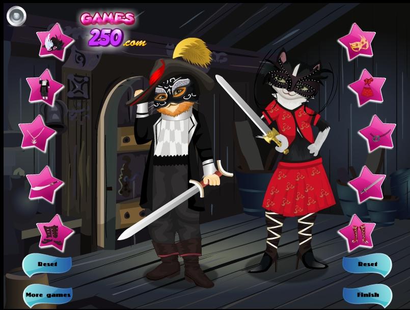 Игра Одевалка Кота в сапогах онлайн