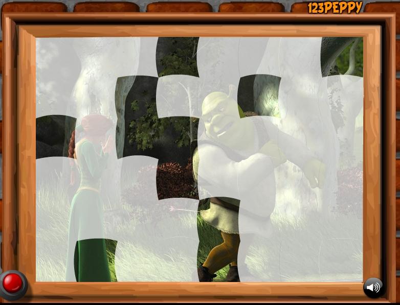 Игра Пазлы Шрек онлайн
