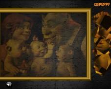 Игра Пазлы семья Шрека онлайн