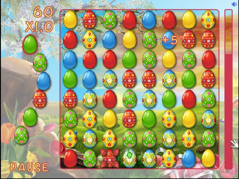 Игра Пасхальные яйца в ряд онлайн