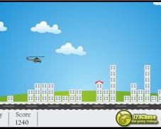 Игра Подрыв зданий на вертолете онлайн