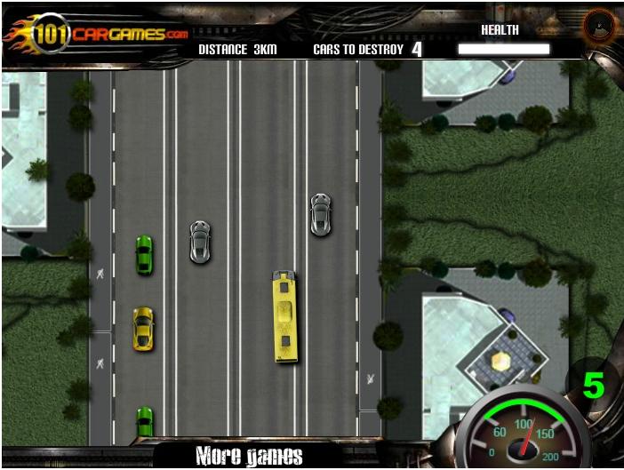 Игра Преследование на автобусе онлайн