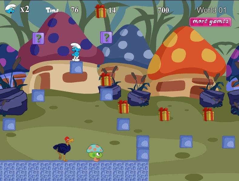 Игра Приключение Смурфика онлайн
