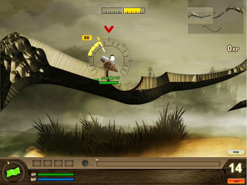Игра Пушки в стиле Worms онлайн