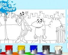 Игра Раскраска Пантеры онлайн
