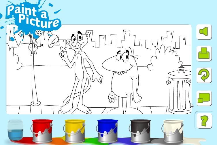 Играть бесплатно в флеш игру Раскраска Пантеры - играй онлайн