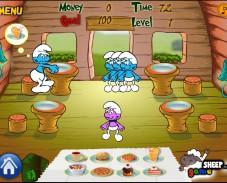 Игра Ресторан Смурфиков онлайн