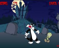 Игра Сильвестр и зомби онлайн