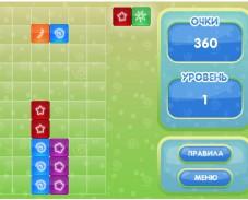 Игра Смешарики квадратики онлайн