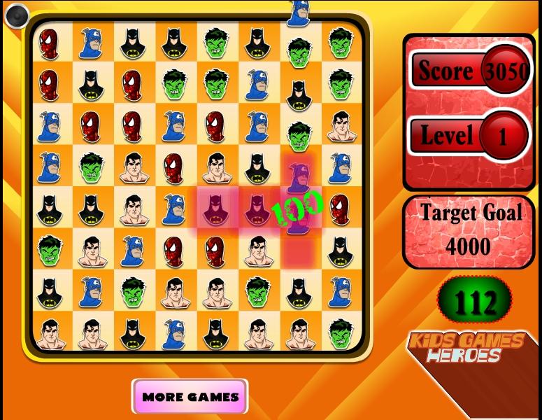 Игра Супергерои – три в ряд онлайн