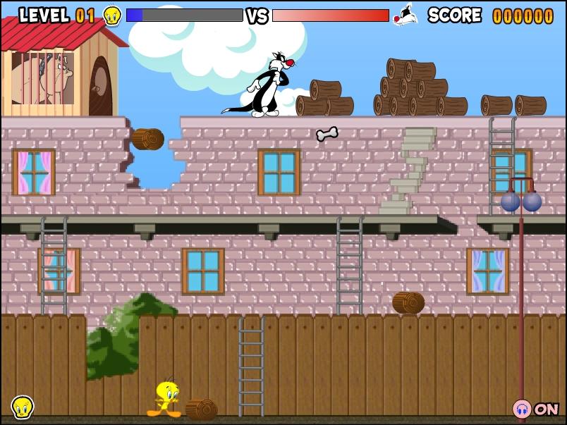 Игра Твити и Сильвестр онлайн