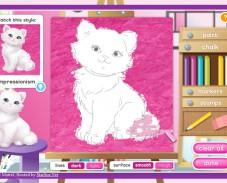 Игра Уроки рисования Барби онлайн