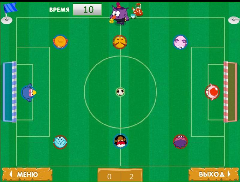 Игра Футбол Смешариков онлайн