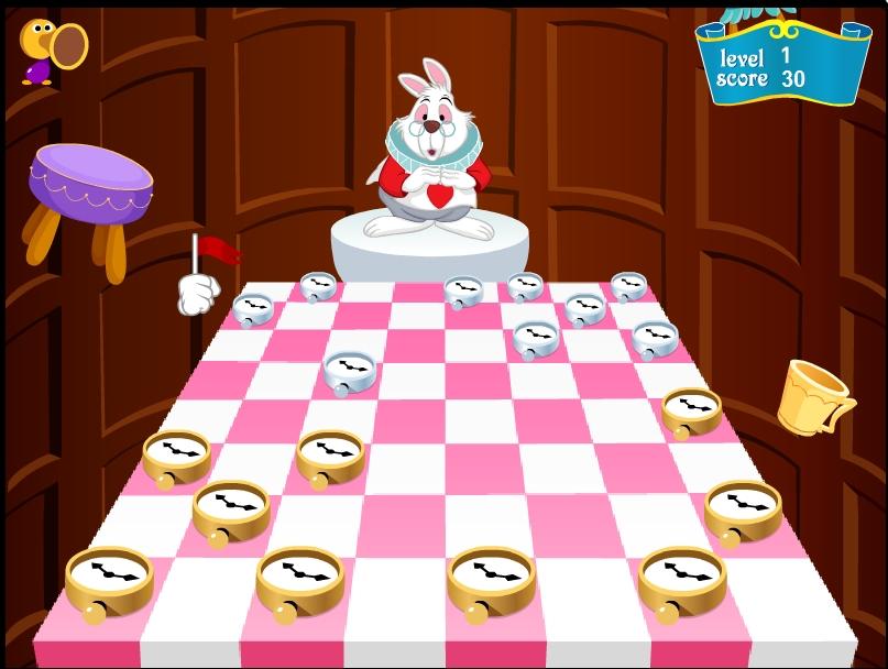Игра Шашки с кроликом онлайн