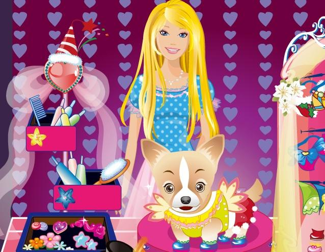 Игра Щенок Барби онлайн