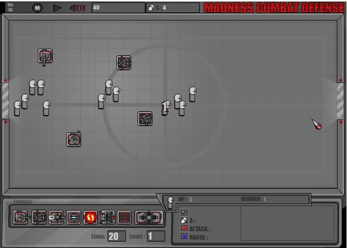 Игра Madness Combat Defense онлайн