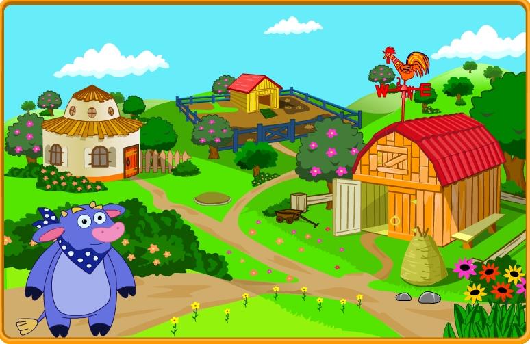 Игра Play Dora Saves The Farm онлайн