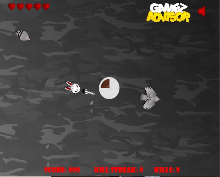 Игра Bunny Vs Pigeons онлайн
