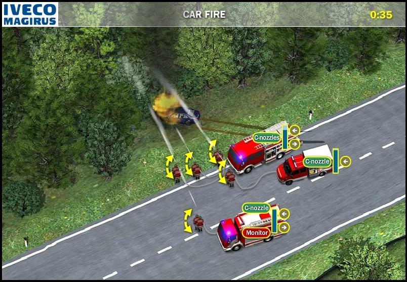 Игра Iveco Magirus Fire Trucks онлайн