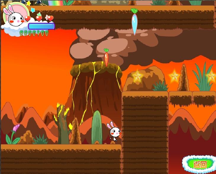 Игра Rainbow Rabbit Adventure 4 онлайн
