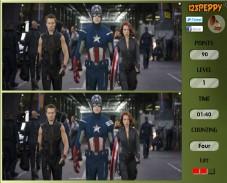 Игра Spot 6 Diff Avengers онлайн