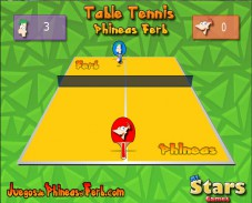 Игра Table Tennis Phineas Ferb онлайн