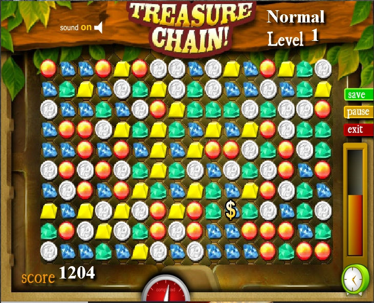 Игра Treasure Chain онлайн