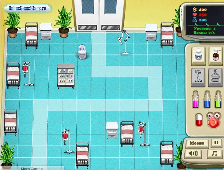 Игра Viruses Defence of Hospital онлайн