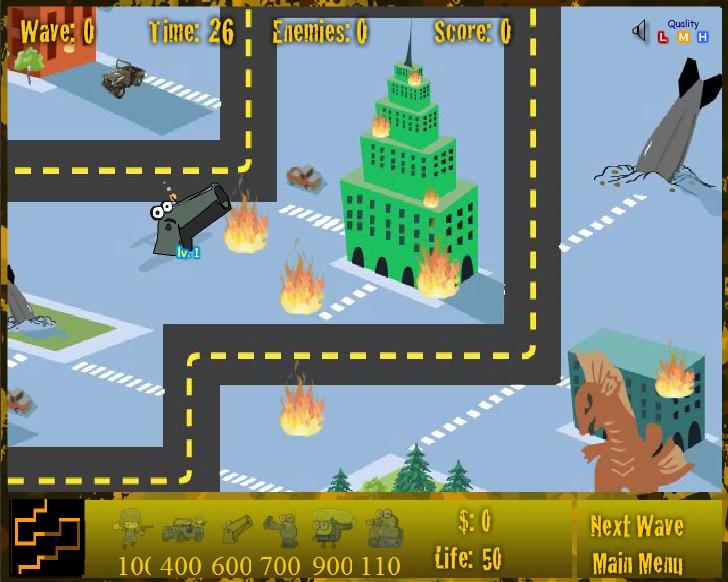 Игра Warfare Tower Defense онлайн