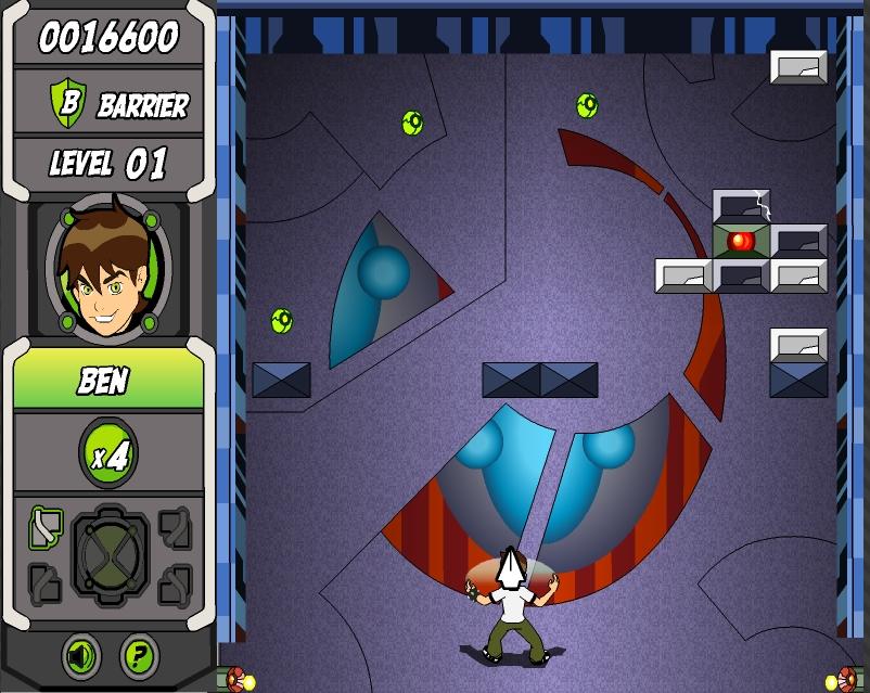 Игра Арканоид Бен 10 онлайн