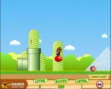 Игра Bouncing Mario онлайн