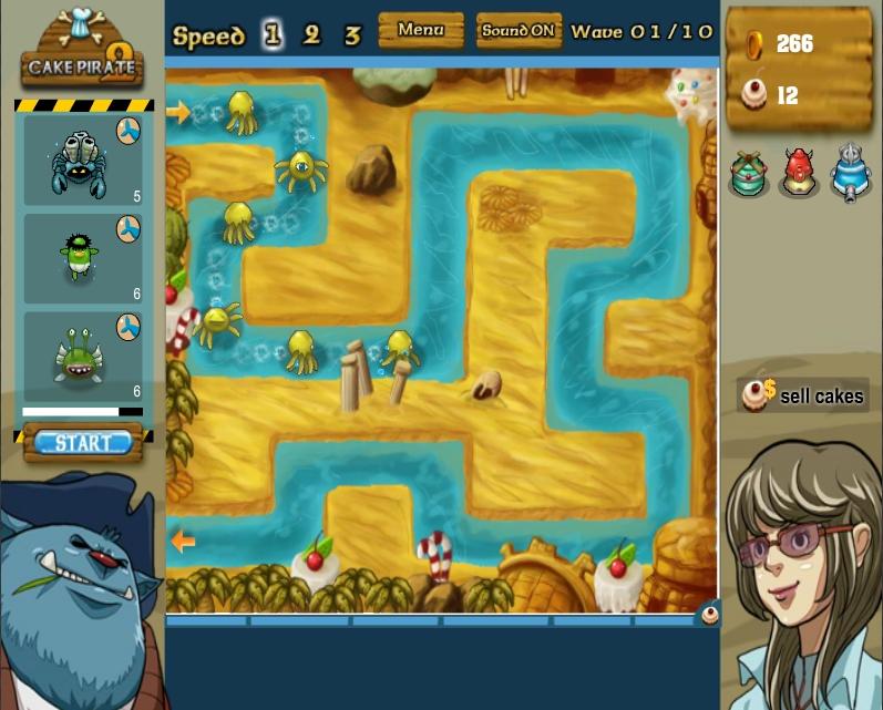 Игра Cake Pirate 2 (Пиратский торт 2) онлайн
