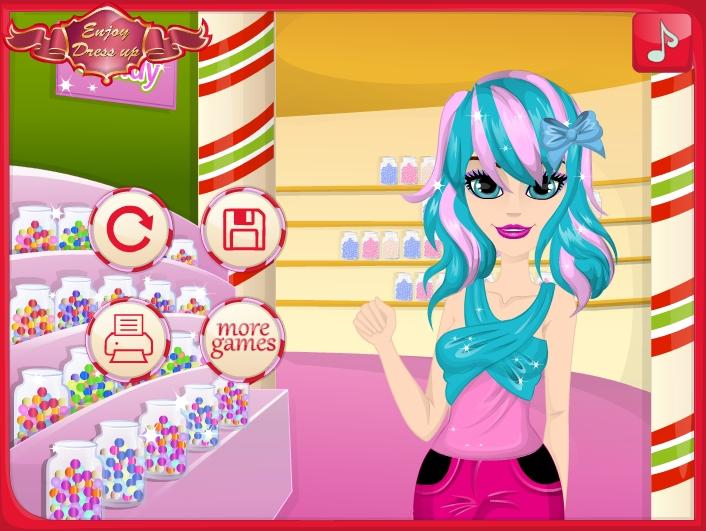 Игра Sandy's Candy Hairstyles онлайн