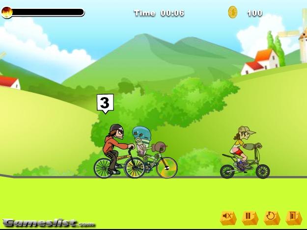Игра Гонки на велосипедах онлайн
